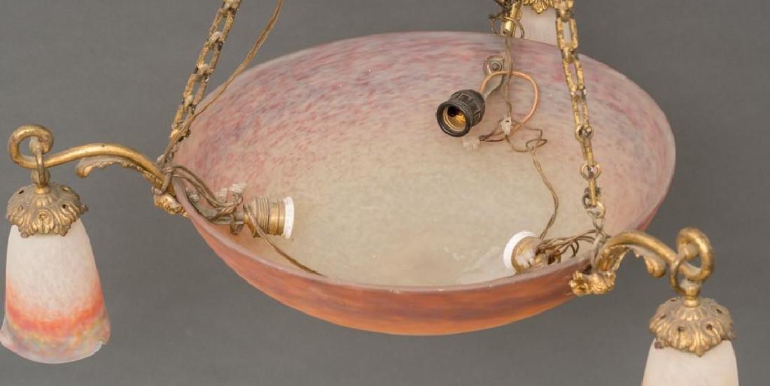 French Art Glass Muller Freres Chandelier - 5
