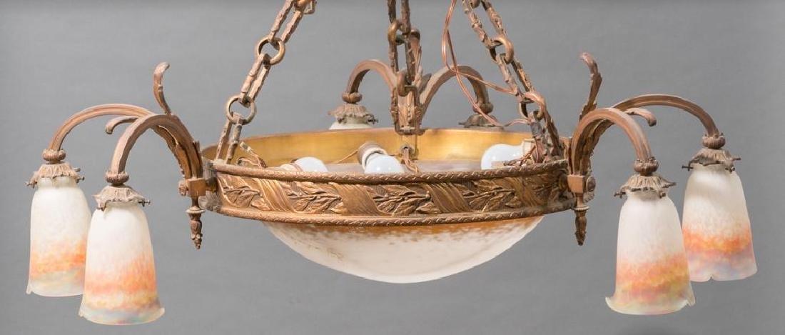 French Art Glass Muller Freres Chandelier