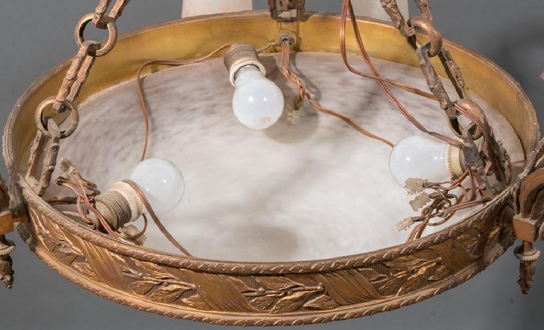 French Art Glass Muller Freres Chandelier - 4