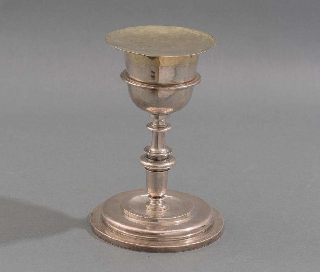 Spanish Colonial Silver Chalice & Paten 17th C. - 2