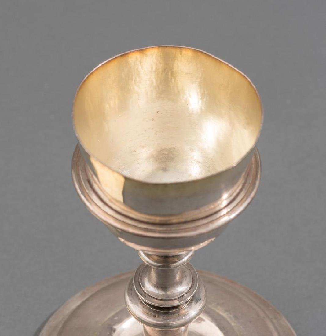 Spanish Colonial Silver Chalice & Paten 17th C. - 3