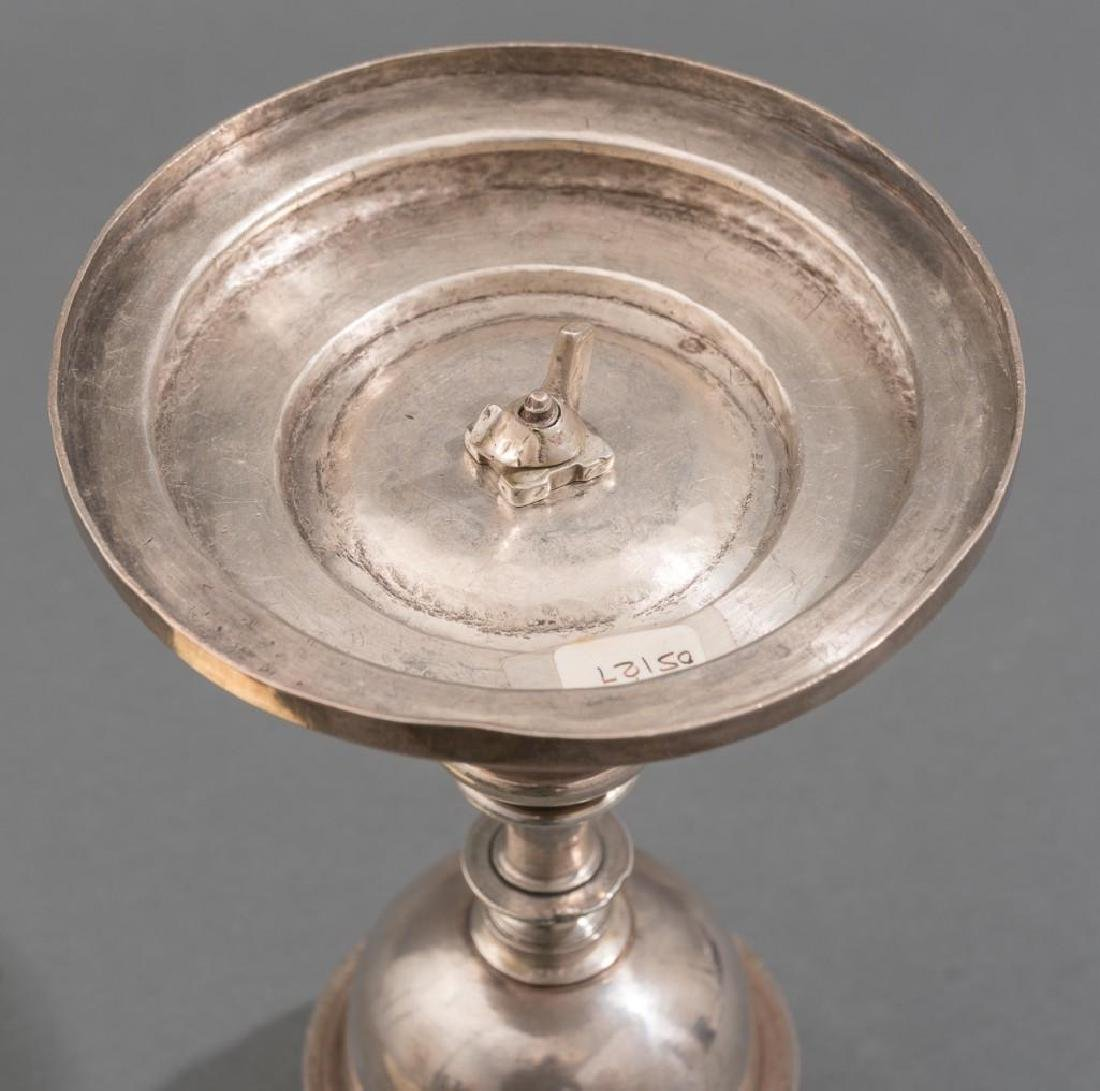Spanish Colonial Silver Chalice & Paten 17th C. - 4