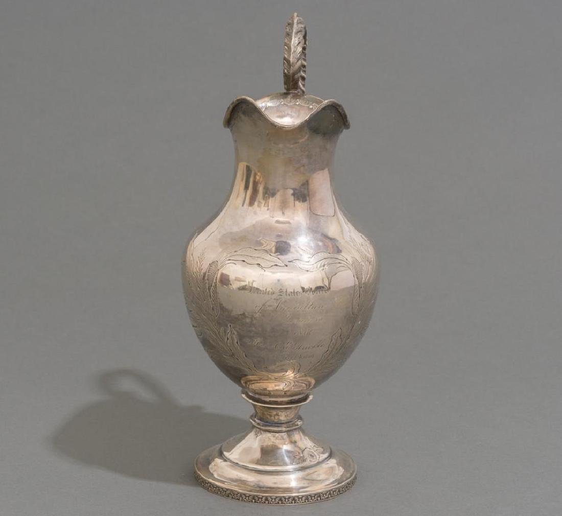 A Large Coin Silver Water Pitcher ca 1860 - 3
