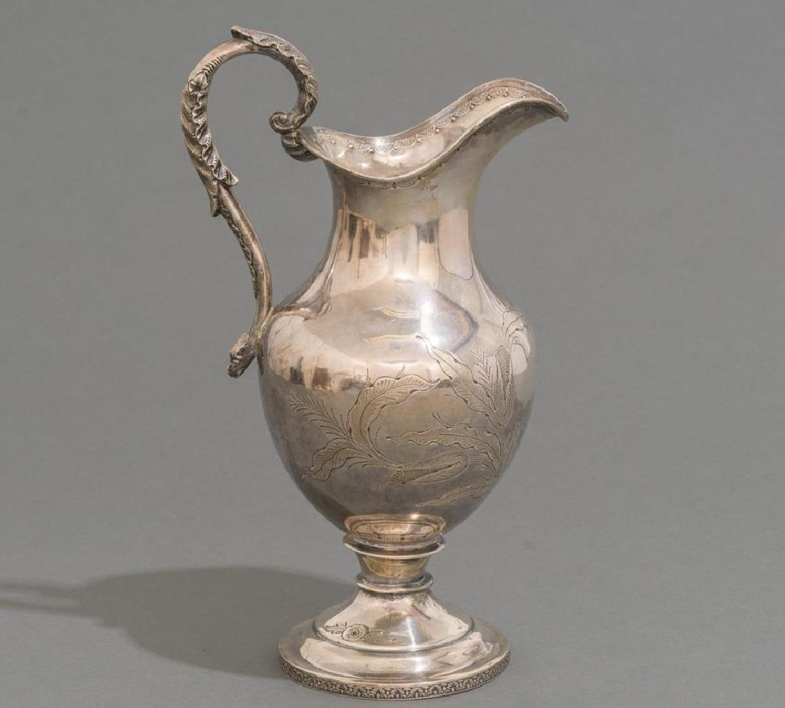 A Large Coin Silver Water Pitcher ca 1860 - 4