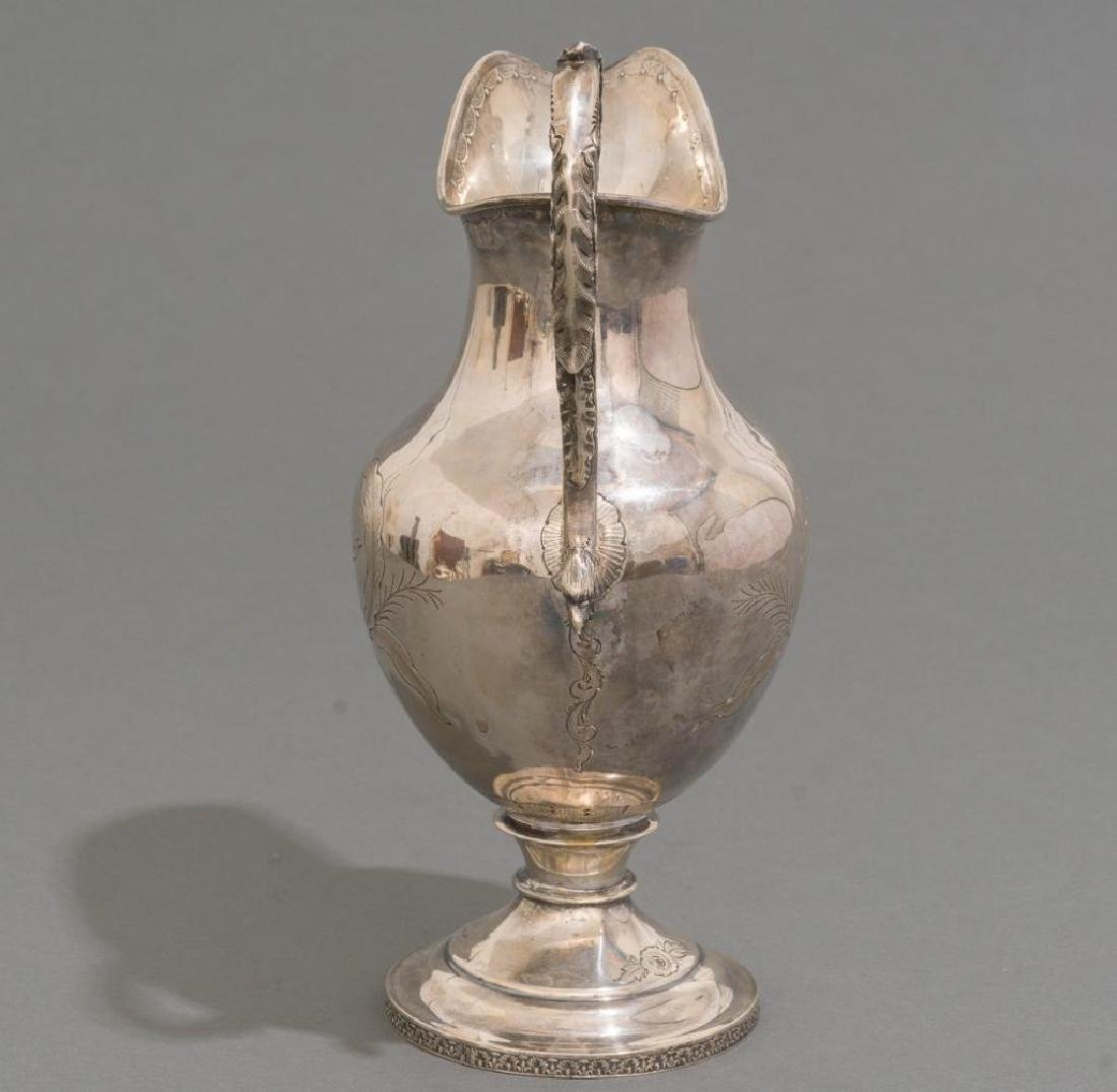 A Large Coin Silver Water Pitcher ca 1860 - 5