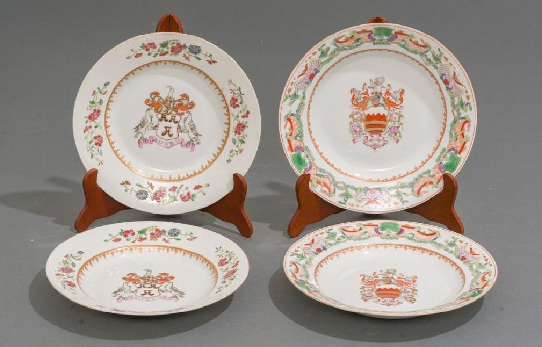 (4) Chinese Export Armorial Porcelain