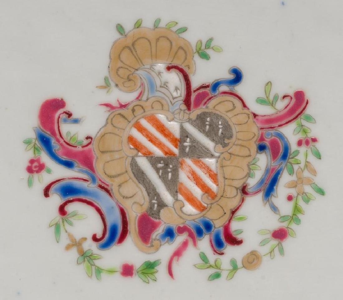 (4) Chinese Export Armorial Porcelain Platters - 2