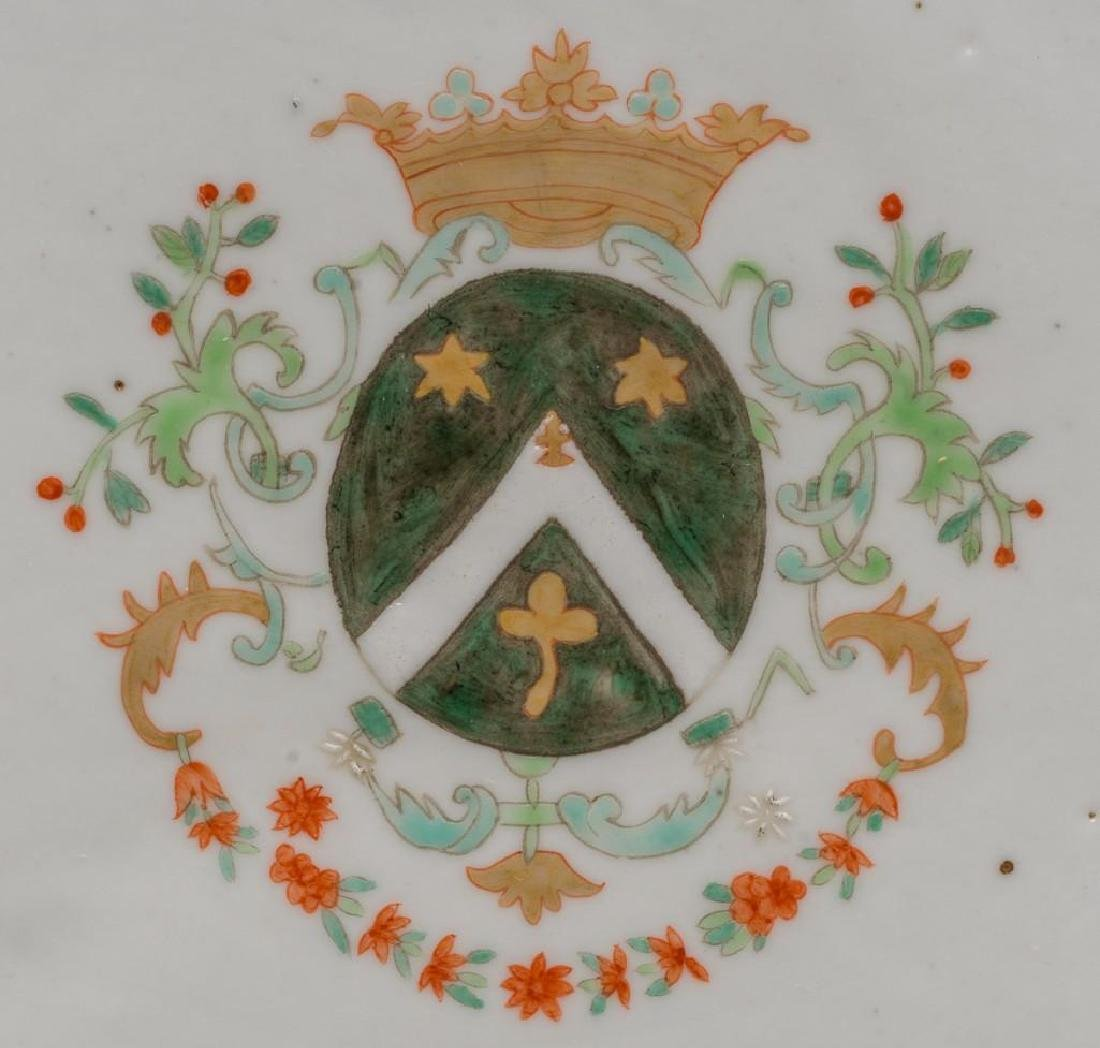 (4) Chinese Export Armorial Porcelain Platters - 3