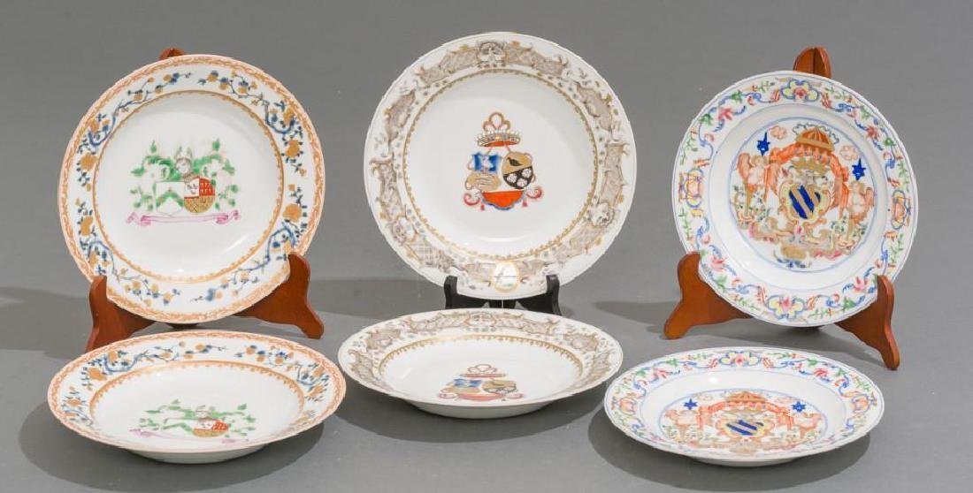 (6) Chinese Export Armorial Porcelain Dishes