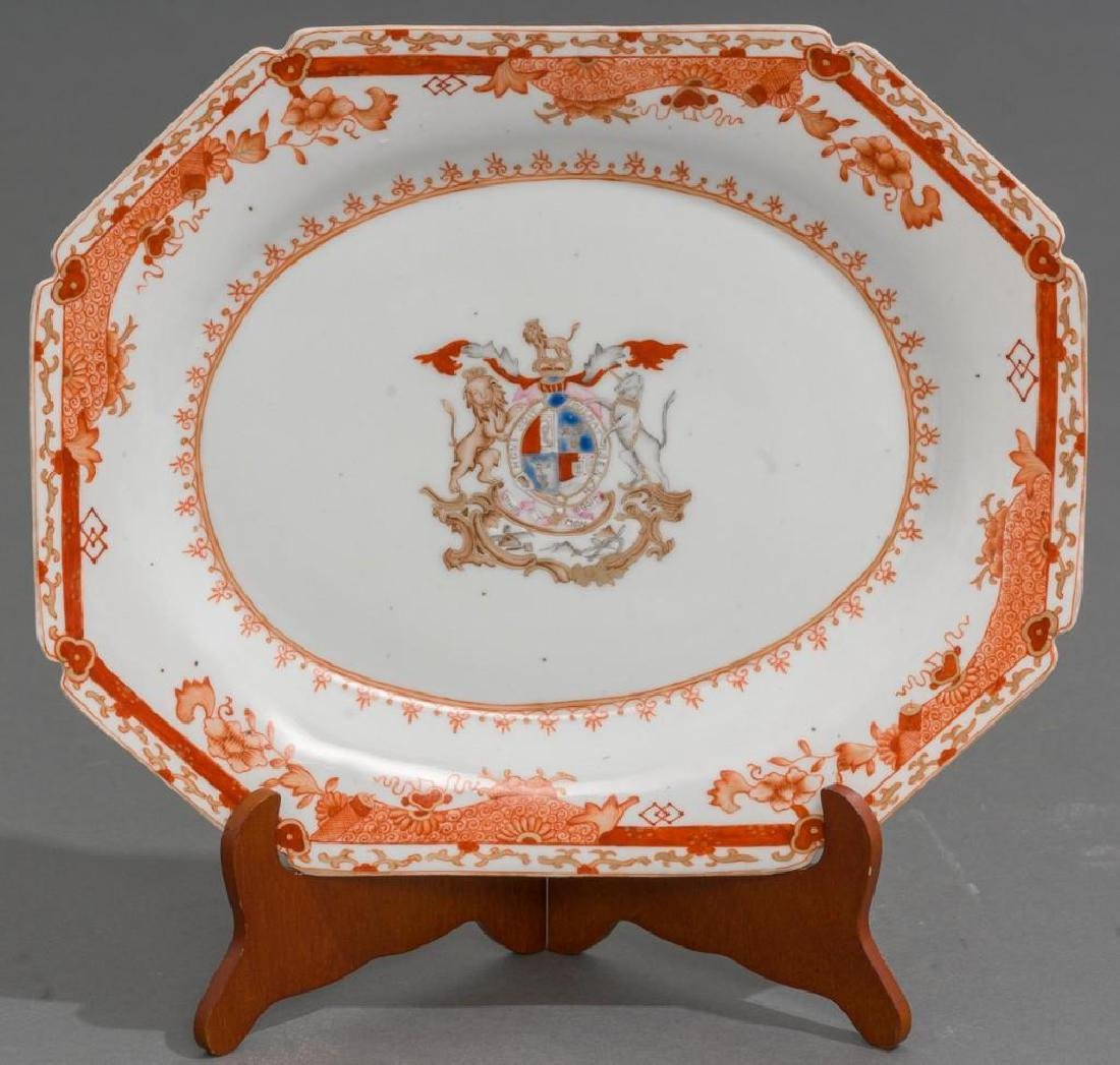 Pair of Chinese Export Armorial Porcelain Platters - 2