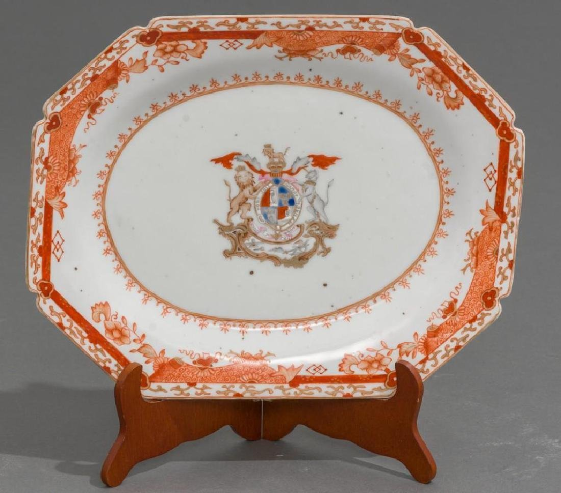 Pair of Chinese Export Armorial Porcelain Platters - 4