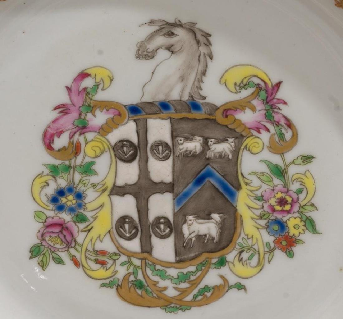 (4) Chinese Export Armorial Porcelain Dishes - 2