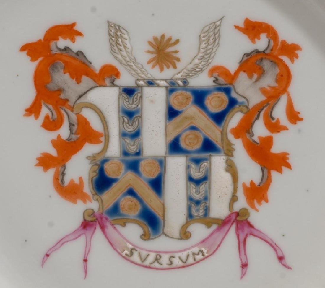(4) Chinese Export Armorial Porcelain Dishes - 3