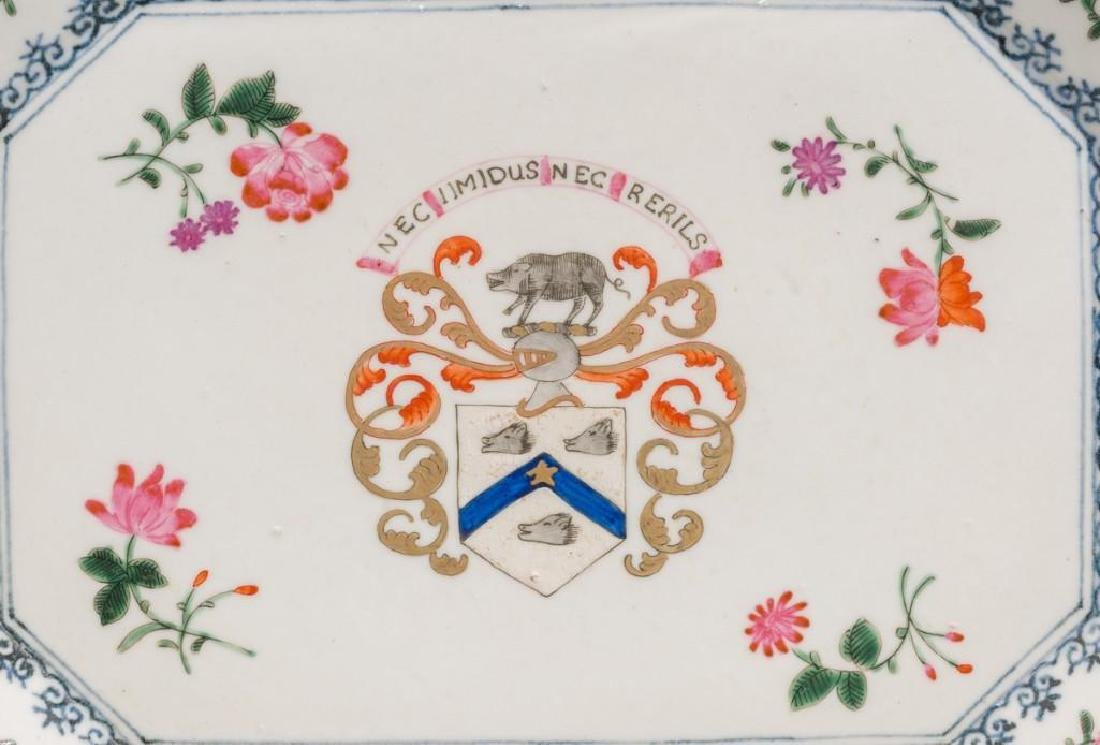 (6) Chinese Export Armorial Porcelain Platters - 2