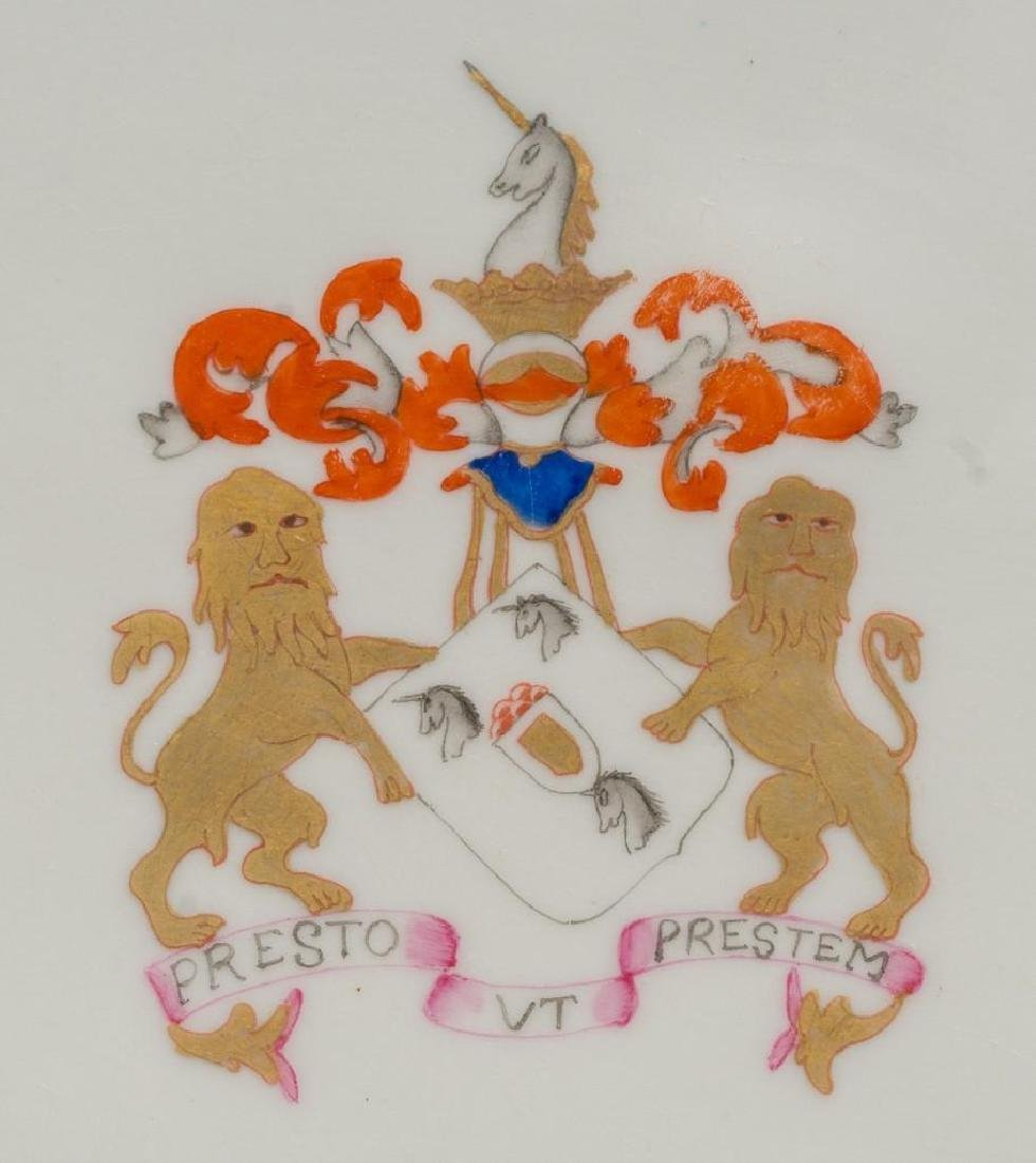 (6) Chinese Export Armorial Porcelain Platters - 3