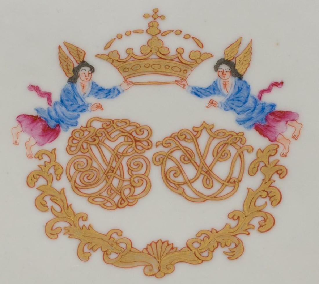 (6) Chinese Export Armorial Porcelain Platters - 4