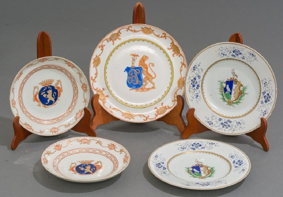 (5) Chinese Export Armorial Porcelain