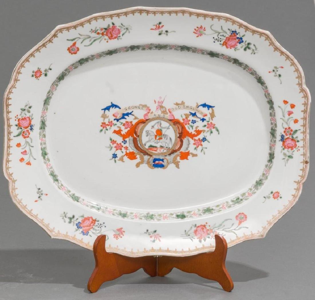 A Chinese Export Armorial Porcelain Platter