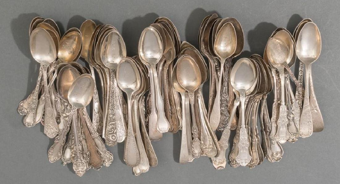 (96) Collection of Sterling Silver Teaspoons