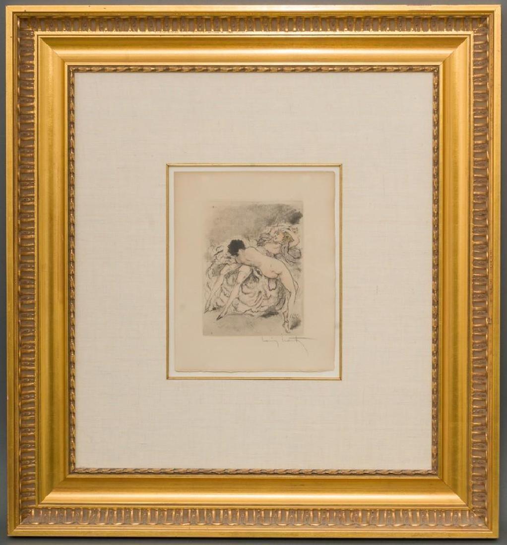 "After Louis Icart, ""Best Friends"", aquatint etching"