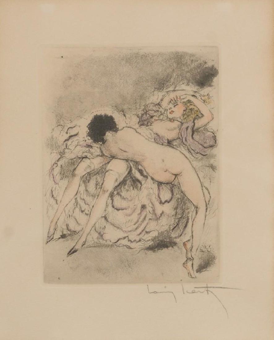 "After Louis Icart, ""Best Friends"", aquatint etching - 2"