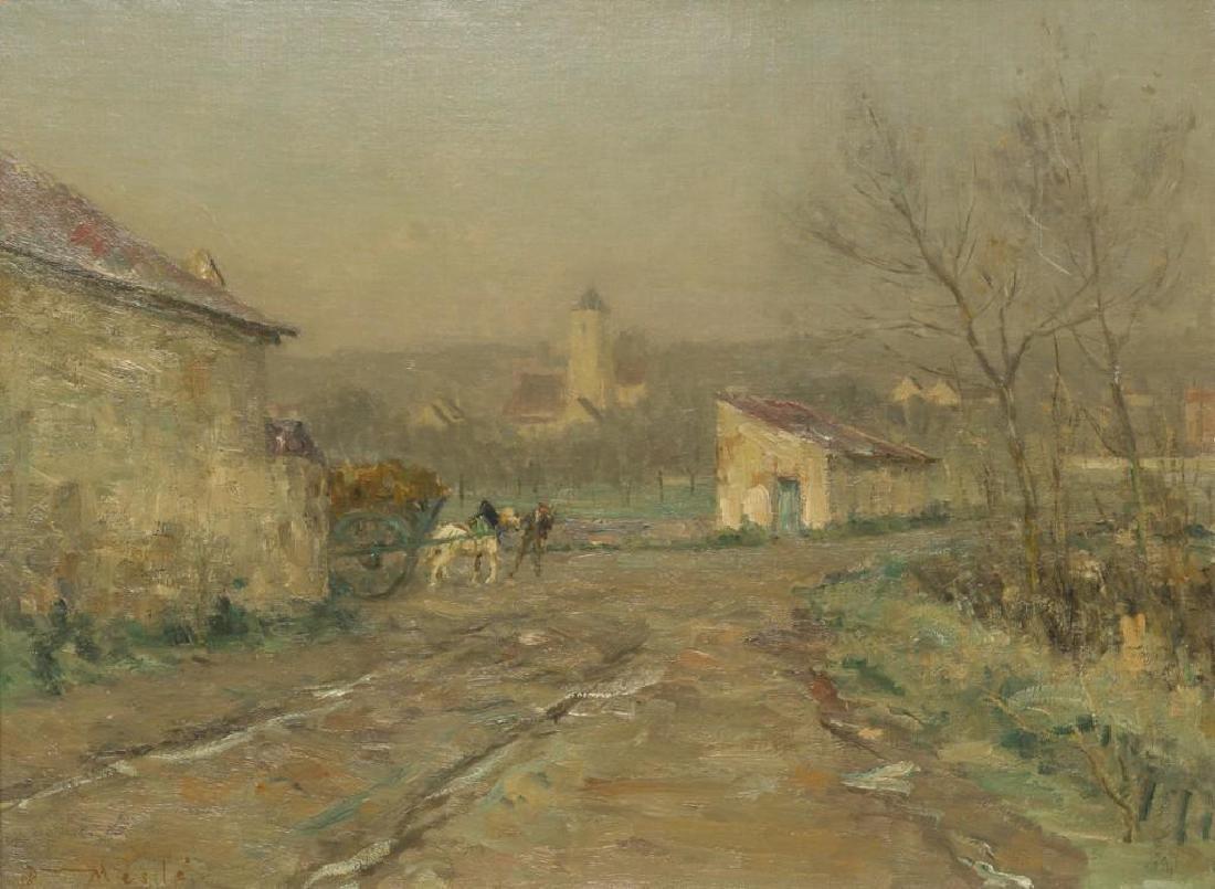 """Joseph Paul Mesle (French, 1855-1929), """"Givre et - 2"""