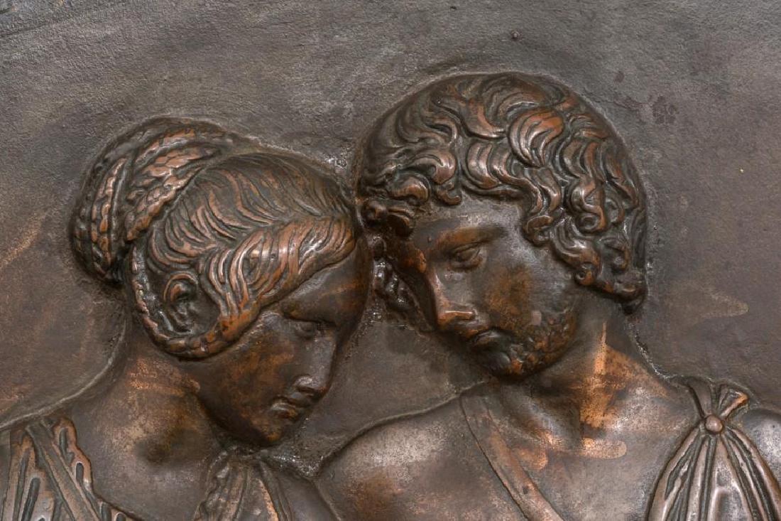 Antique Bronze Allegorical Plaque - 2