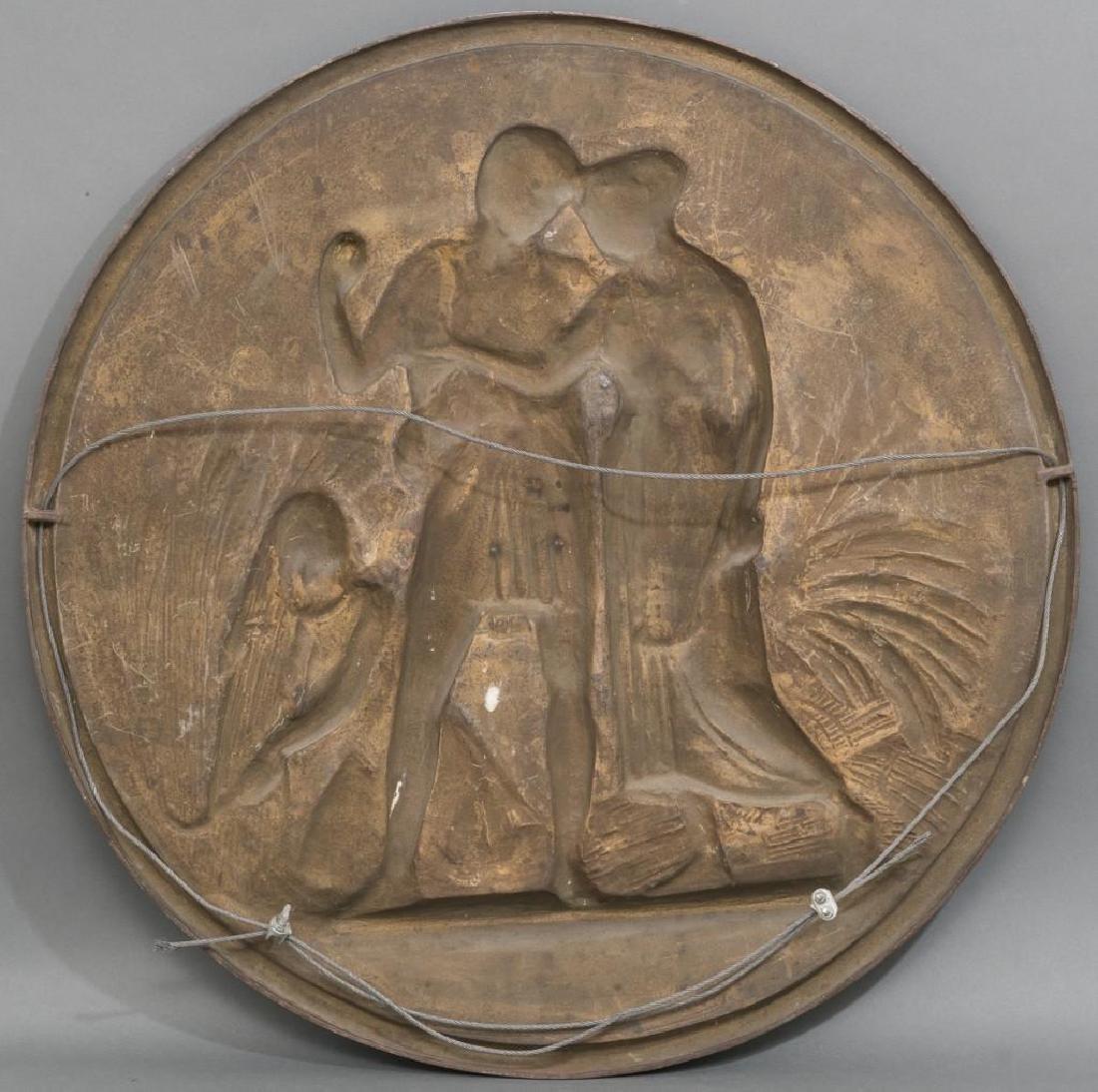 Antique Bronze Allegorical Plaque - 3