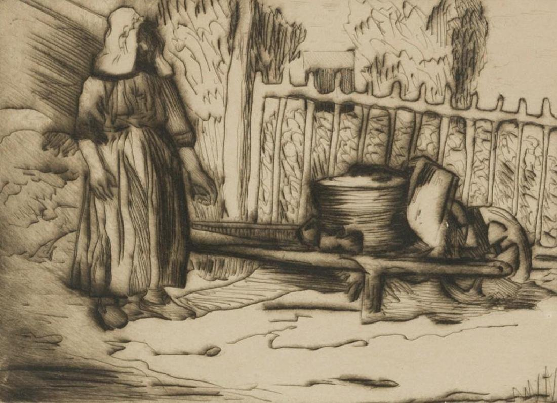 Mary Bonner (Texas, 1887-1935), Woman with Wagon, 1924,