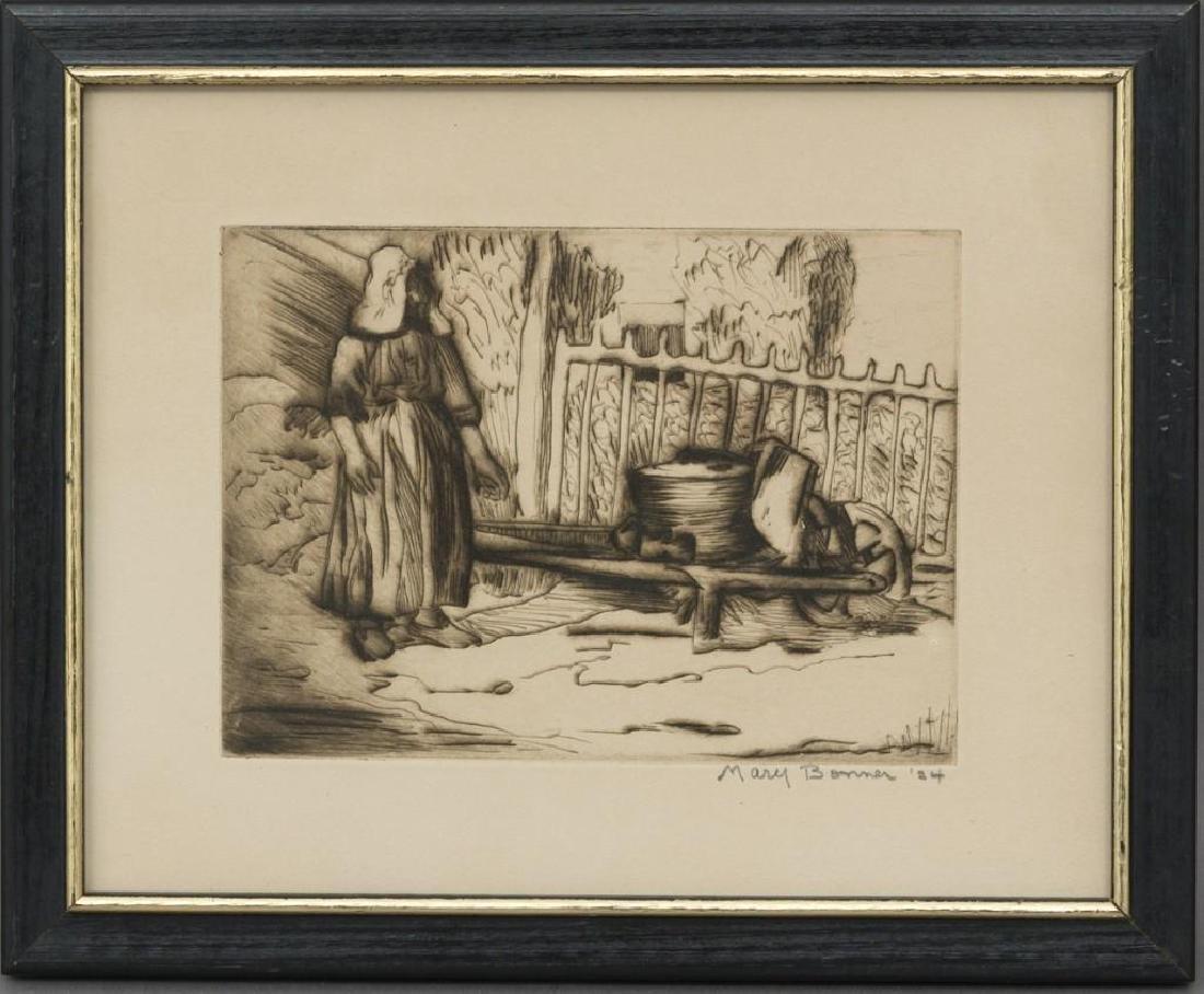 Mary Bonner (Texas, 1887-1935), Woman with Wagon, 1924, - 2