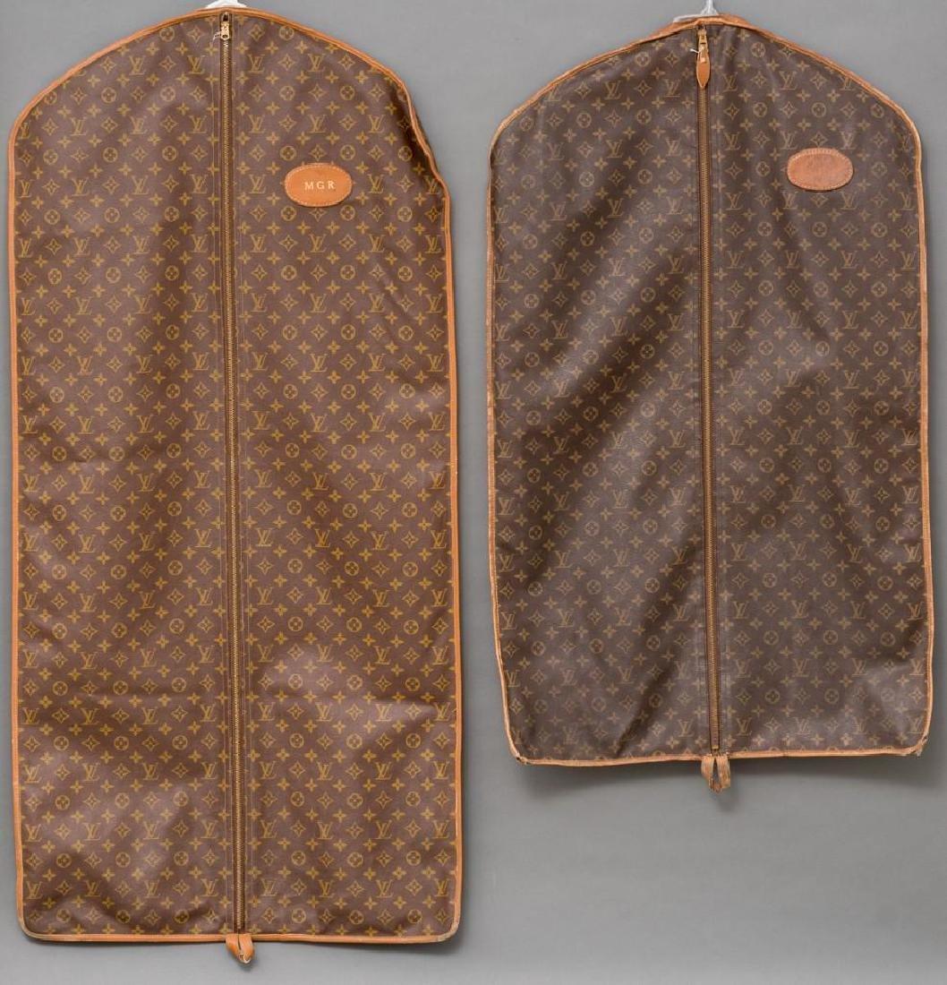 Two Vintage Louis Vuitton Monogram Garment Bags