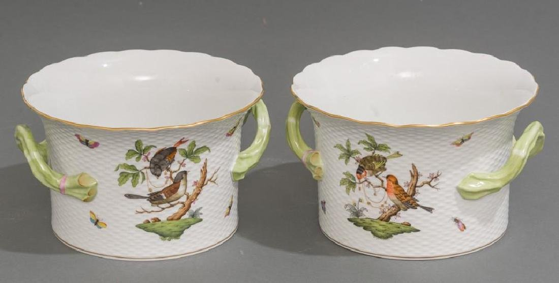 Pair of Herend Porcelain Ice / Wine Coolers