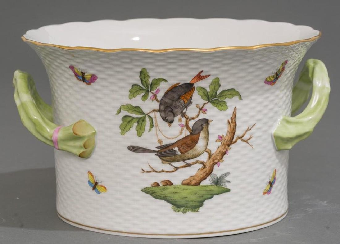 Pair of Herend Porcelain Ice / Wine Coolers - 2