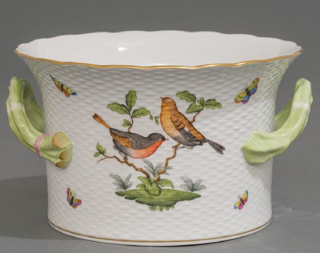 Pair of Herend Porcelain Ice / Wine Coolers - 3