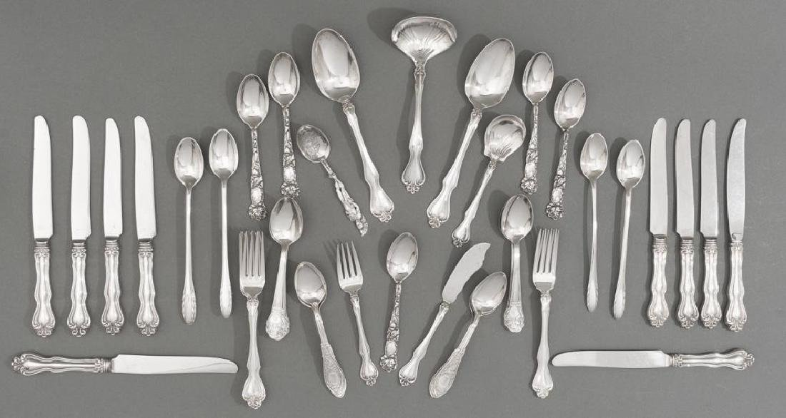 Assorted 57 Pieces of Sterling Silver Flatware