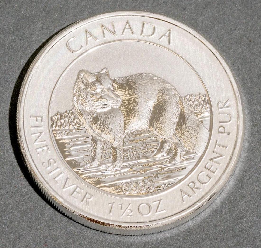 (100) 2014 Canada 1.5 oz Silver $8 Arctic Fox - 2