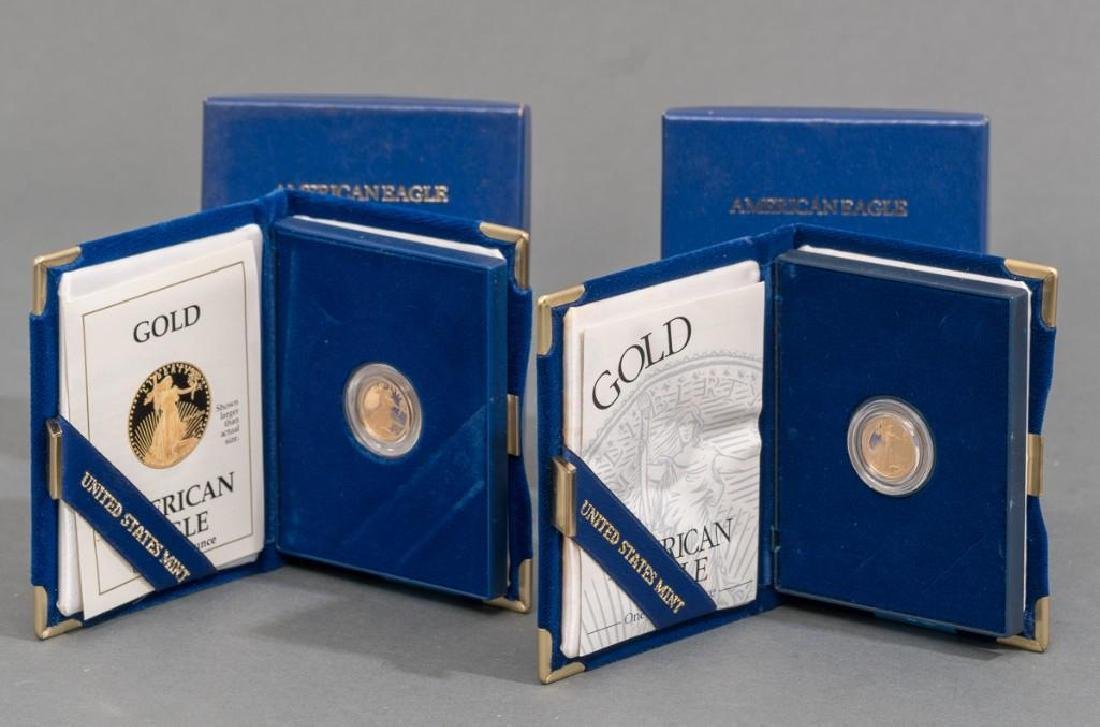 (2) $5 Gold American Eagle Tenth-Ounce Proofs