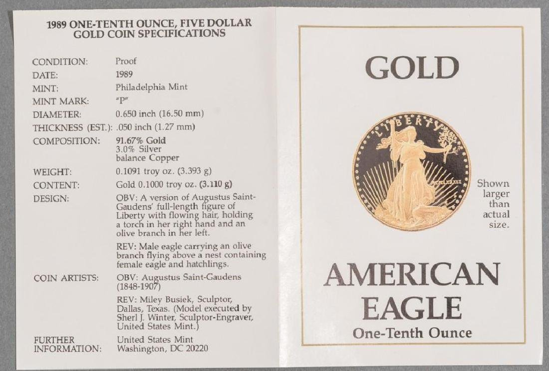 (2) $5 Gold American Eagle Tenth-Ounce Proofs - 5
