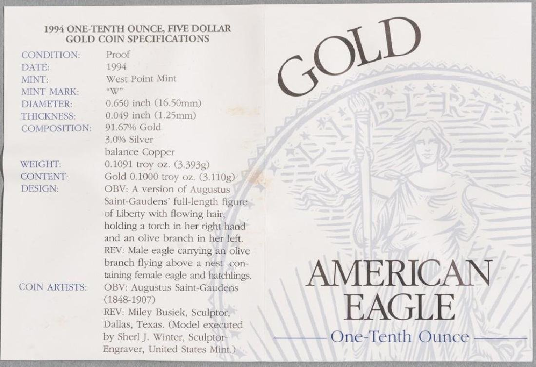 (2) $5 Gold American Eagle Tenth-Ounce Proofs - 7