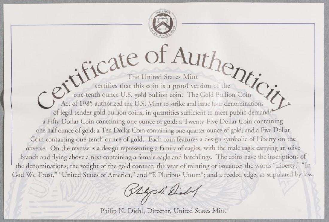 (2) $5 Gold American Eagle Tenth-Ounce Proofs - 8