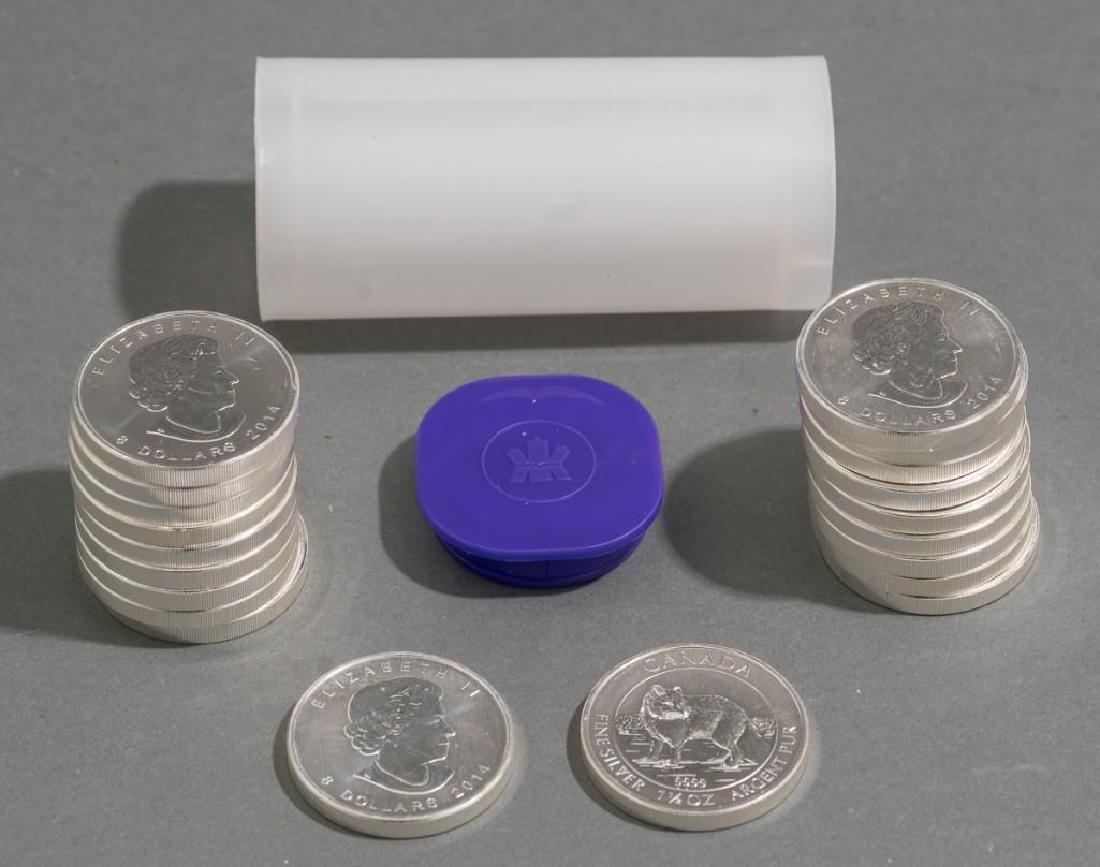 (20) 2014 Canada 1.5 oz Silver $8 Arctic Fox