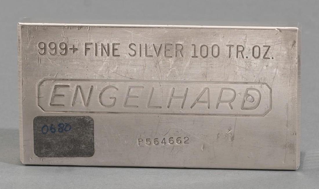 Engelhard 999+ Fine Silver 100 Troy Ounce Bar