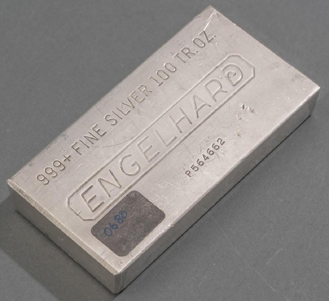Engelhard 999+ Fine Silver 100 Troy Ounce Bar - 4