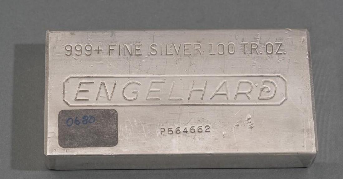 Engelhard 999+ Fine Silver 100 Troy Ounce Bar - 5