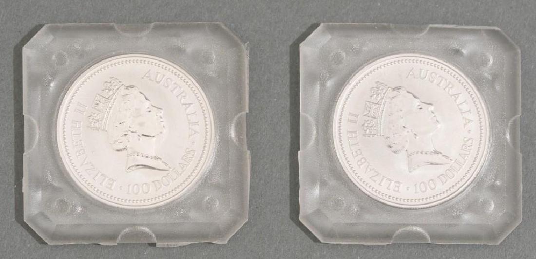 (2) 1991 Australia Koala Platinum-100 1-oz Coins - 3