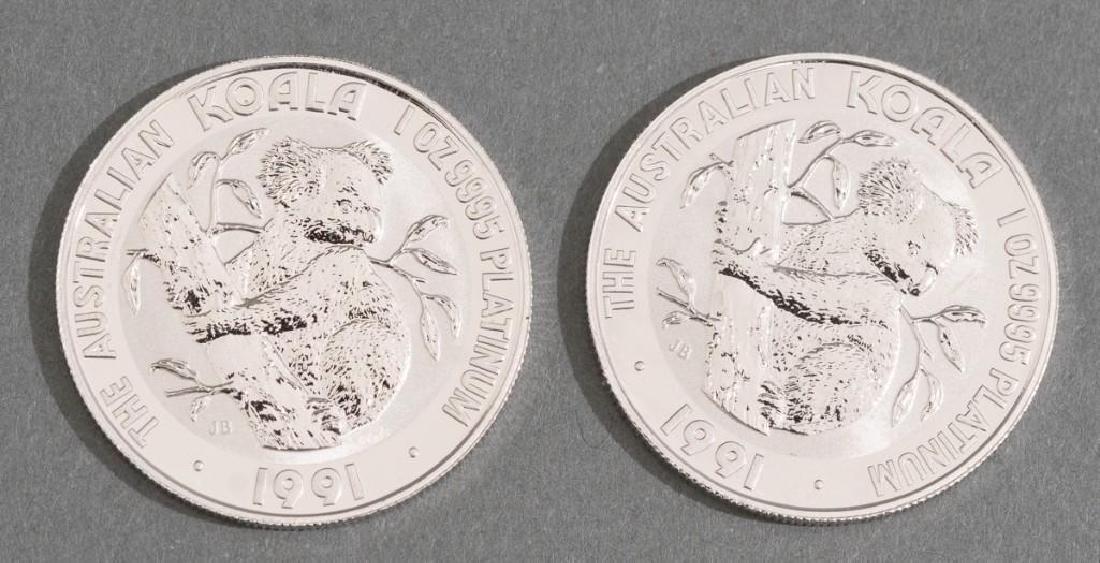 (2) 1991 Australia Koala Platinum-100 1-oz Coins - 2