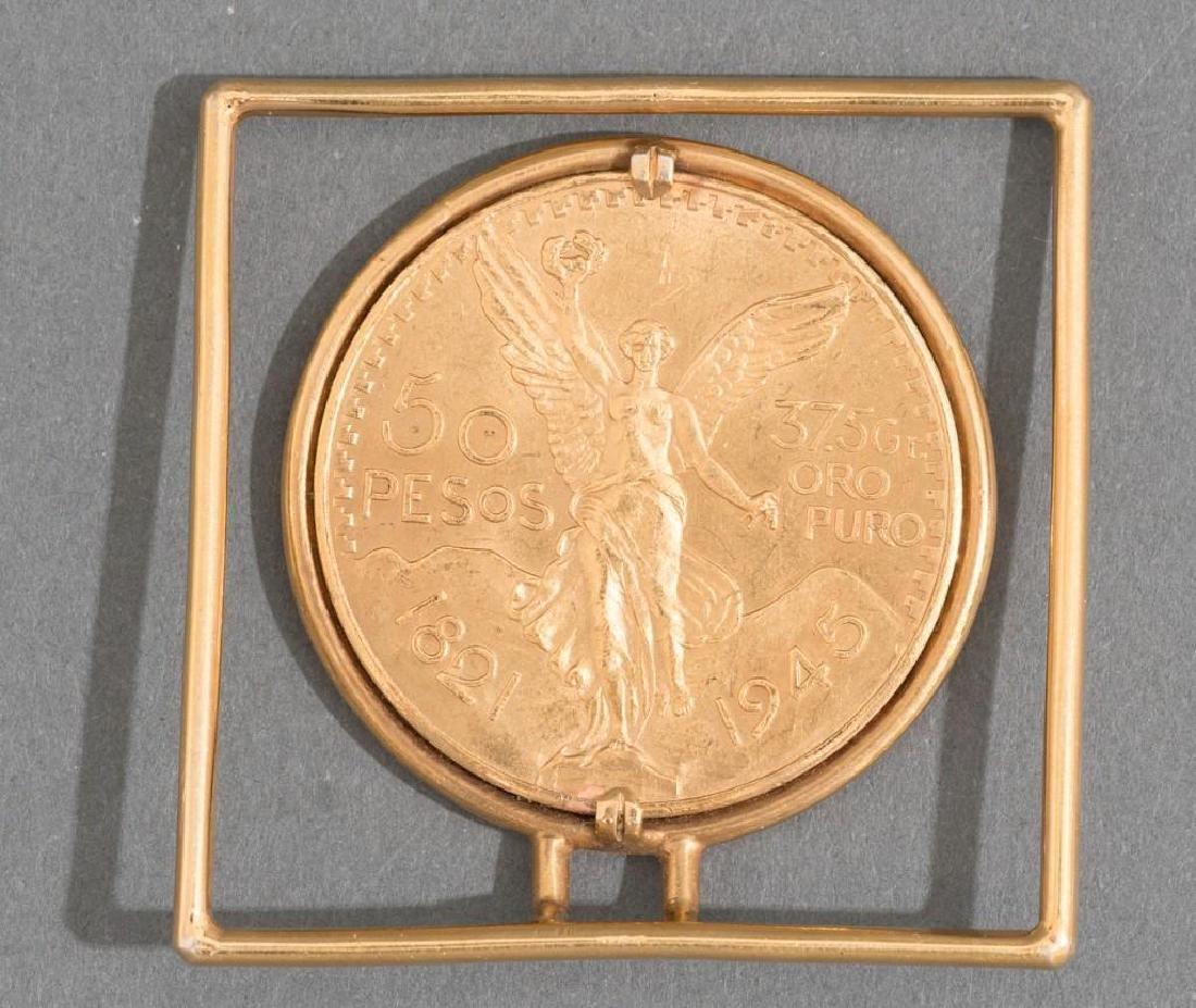 A Mexican Gold Centenario 50 Peso Money Clip