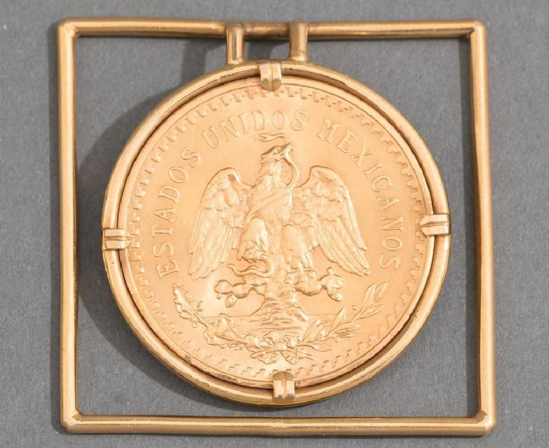 A Mexican Gold Centenario 50 Peso Money Clip - 2