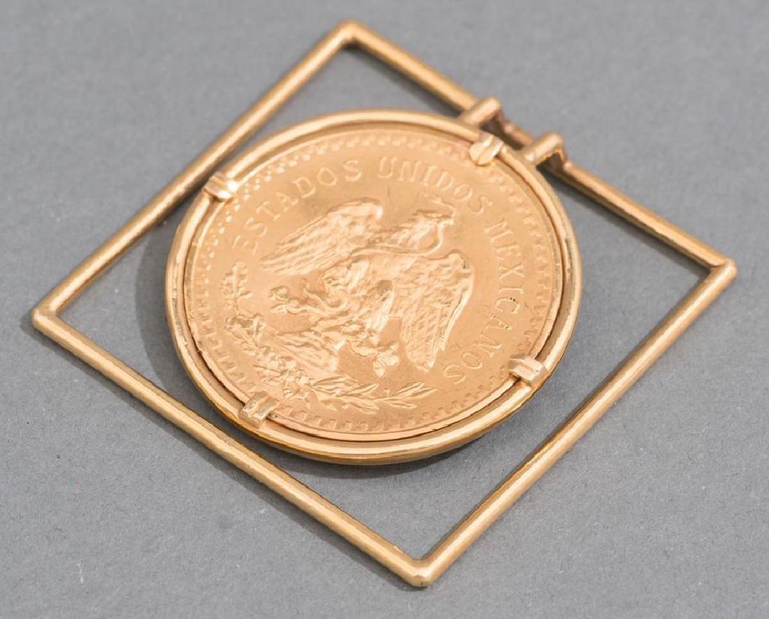 A Mexican Gold Centenario 50 Peso Money Clip - 3