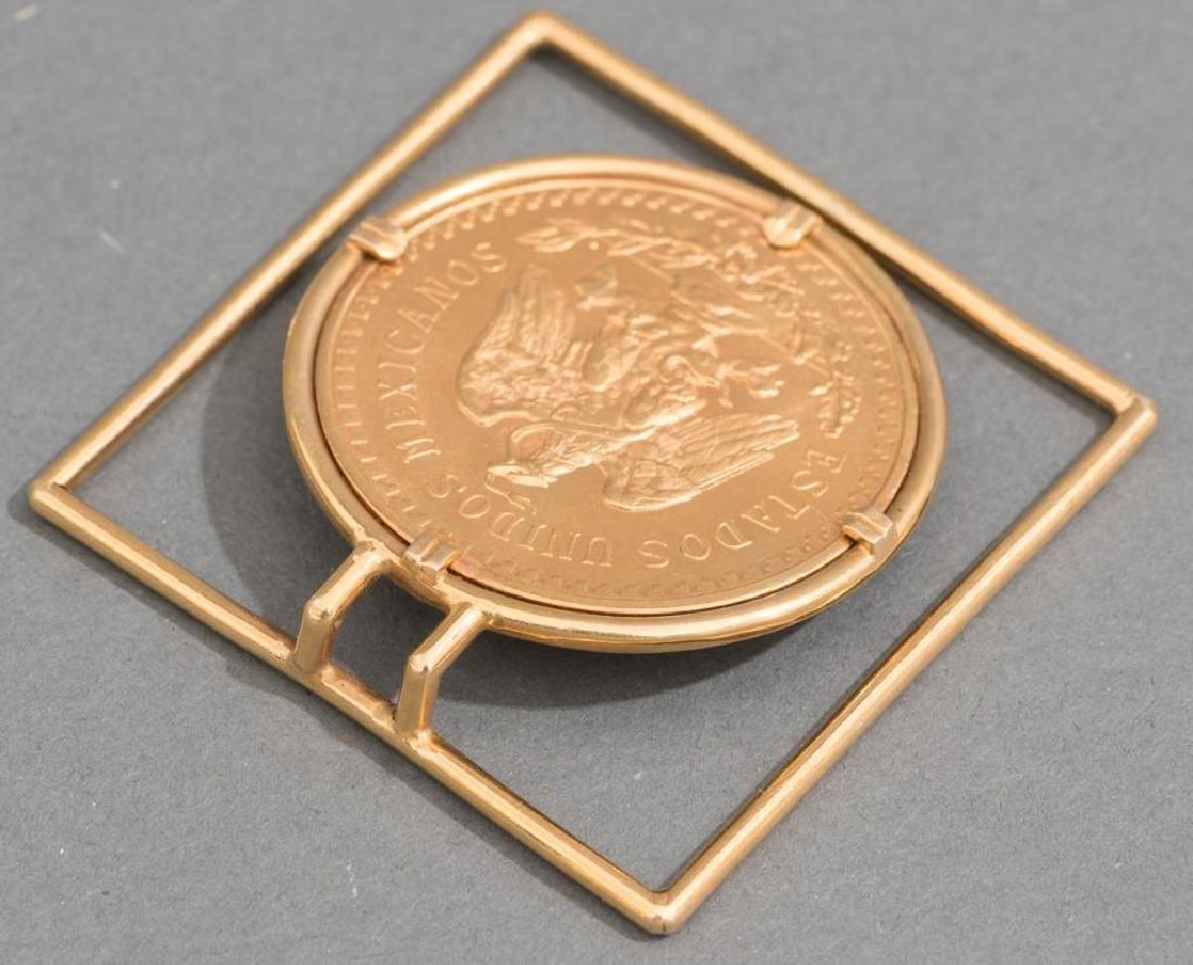 A Mexican Gold Centenario 50 Peso Money Clip - 4